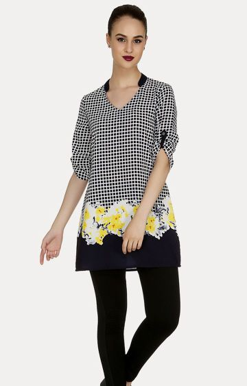 109F | Black Checked Tunic