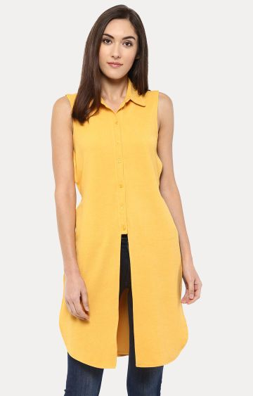 109F | Yellow Solid Tunic