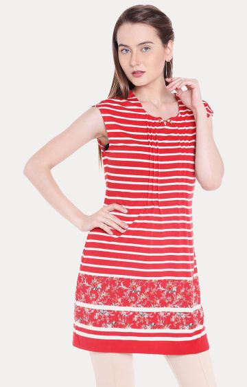 109F | Red Striped Tunic