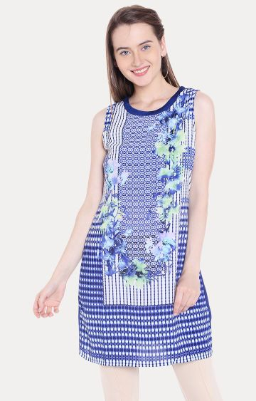 109F | Blue Printed Tunic