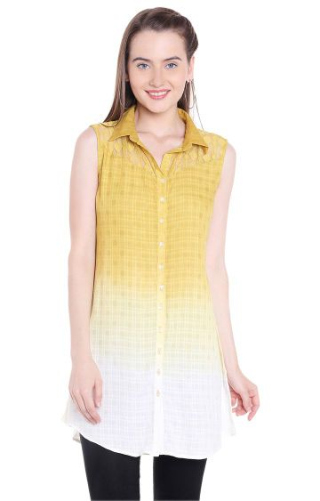 109F | Yellow Checked Tunic