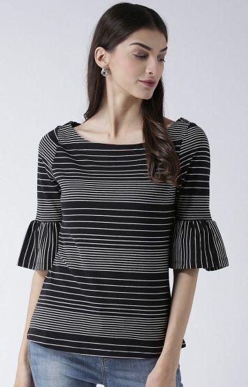 109F   Black Striped Top