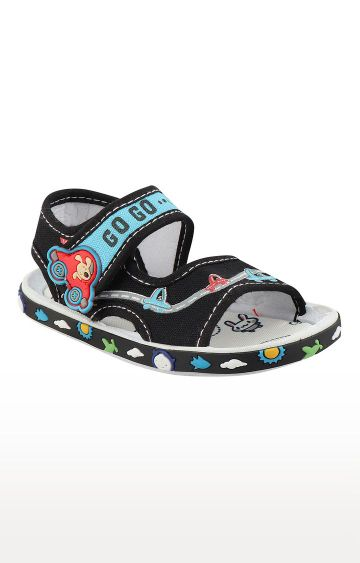 Rex   Black Slip On Sandals