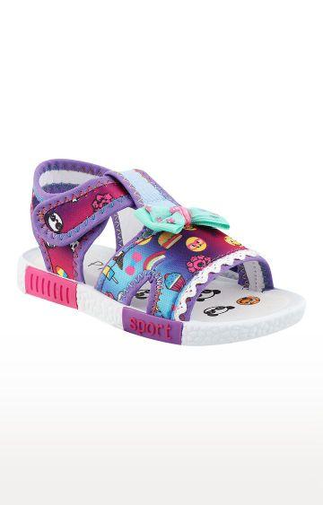 Rex   Purple Slip On Sandals