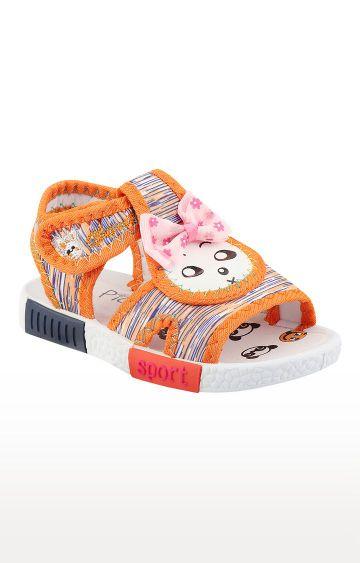 Rex   Orange Slip On Sandals