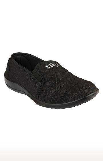 Rex | Black Casual Slip-ons