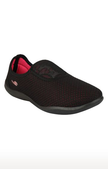 Rex | Black and Pink Casual Slip-ons