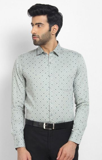 Cape Canary | Grey Printed Casual Shirt