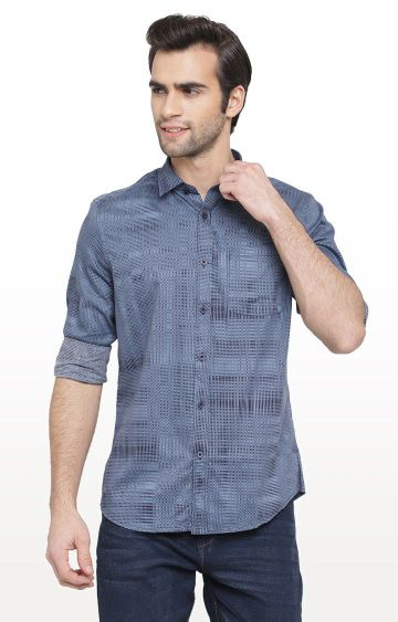 Cape Canary | Blue Printed Casual Shirt