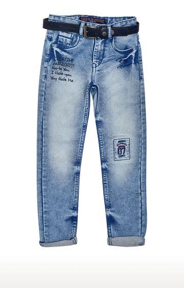 Tadpole | Blue Printed Jeans