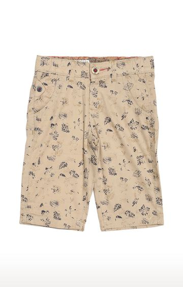Tadpole | Beige Printed Casual Shorts