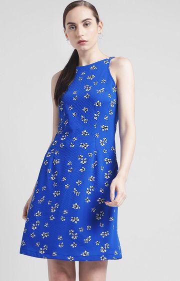 Zink London | Blue Floral Shift Dress