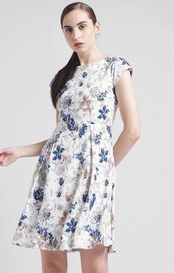 Zink London | White Floral Skater Dress