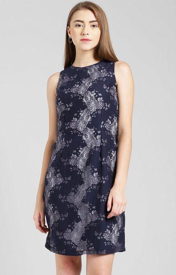 Zink London | Navy Floral Shift Dress