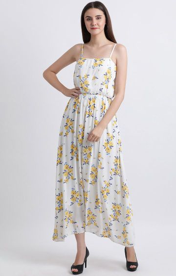 Zink London | White Floral Maxi Dress