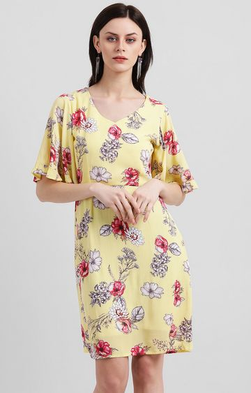 Zink London | Yellow Floral Shift Dress