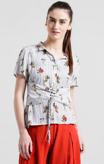 Zink London | White Floral Top