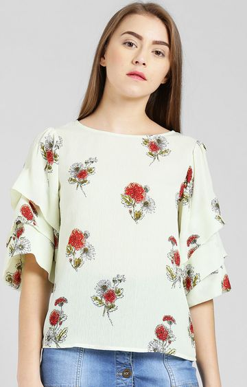 Zink London | Yellow Floral Top