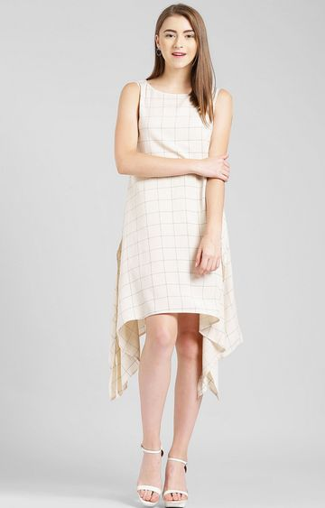 Zink London | Beige Checked Tunic