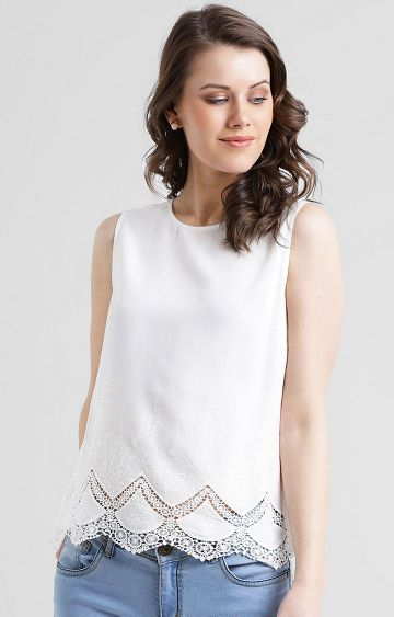 Zink London   White Solid Top