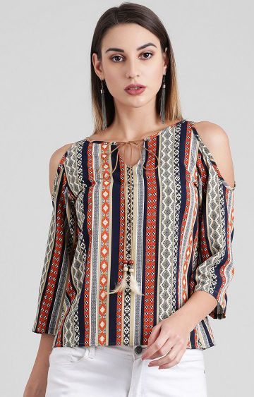 Zink London | Multicoloured Printed Top