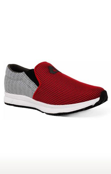 Avant   Red and Grey Dual Mesh Running Shoes