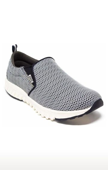 Avant   Grey Single Mesh Running Shoes
