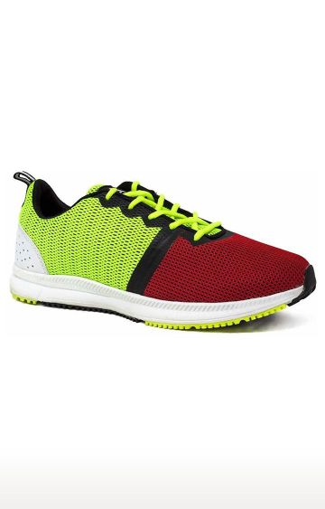 Avant   Red and Fluorescent Green Velocity Running and Training Shoes
