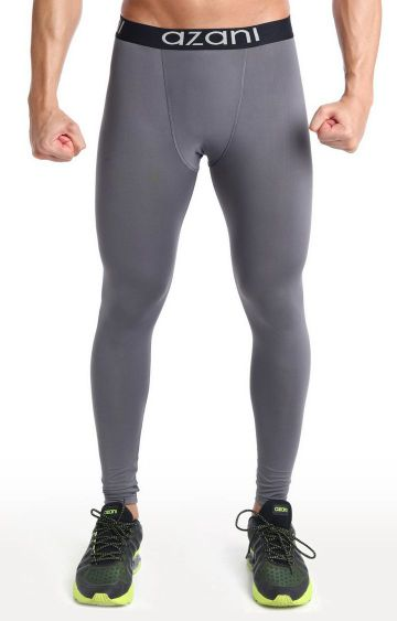 Azani | Grey Solid Compression Tights