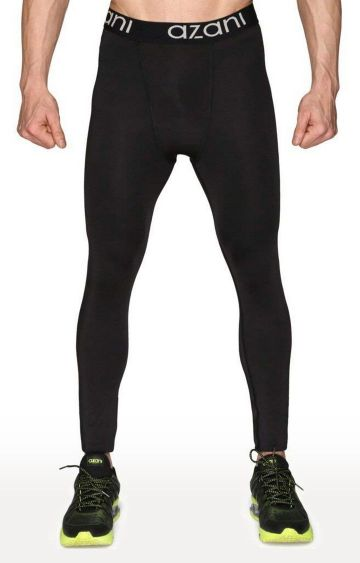 Azani | Black Solid Compression Tights