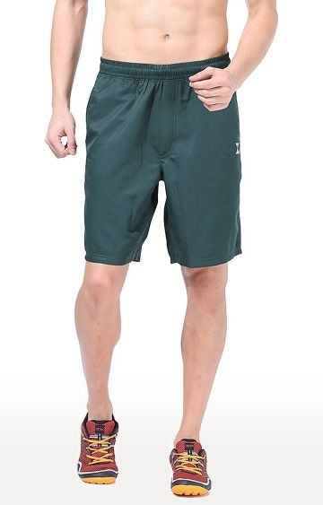 Azani | Bottle Green Solid Shorts
