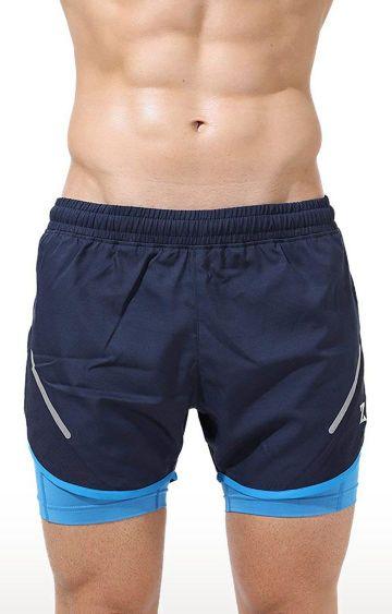 Azani | Navy and Scuba Blue Colourblock Shorts