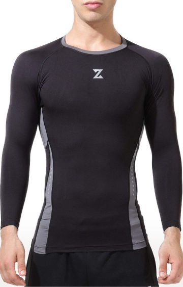 Azani | Black and Grey Colourblock Compression Tops