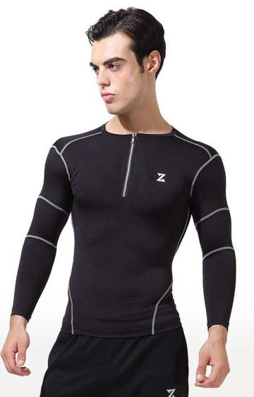 Azani | Black Striped Compression Tops