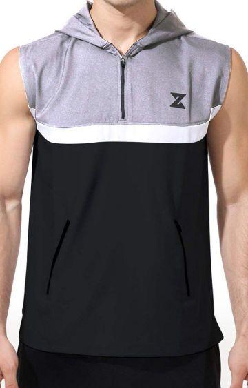 Azani | Black and Grey Colourblock Activewear Jacket