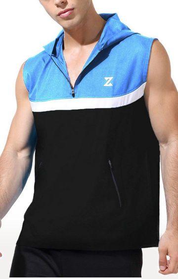 Azani | Black and Scuba Colourblock Activewear Jacket