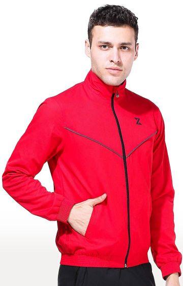 Azani | Red Solid Activewear Jacket
