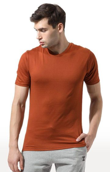 Azani | Brown Solid T-Shirt