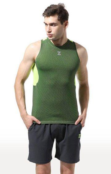 Azani | Neon Green Solid T-Shirt