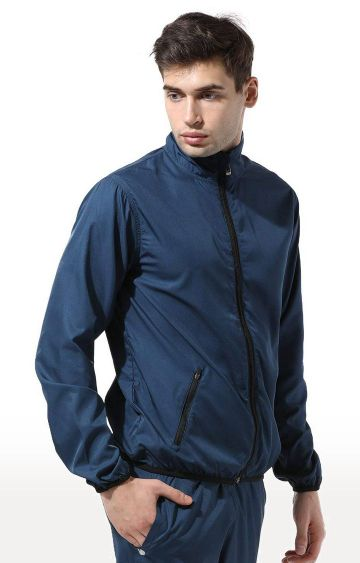 Azani | Teal Solid Activewear Jacket