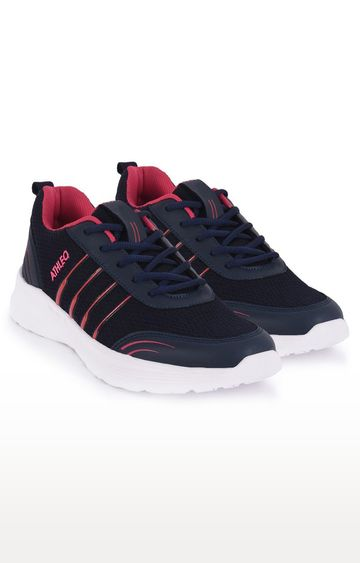 ATHLEO by Action | Navy and Pink Sports Shoes