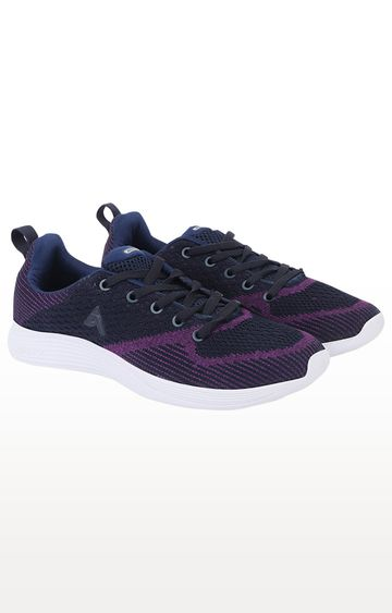 ATHLEO by Action | Navy and Purple Running Shoes