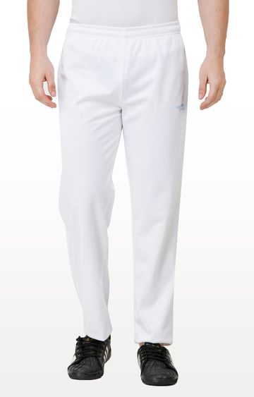 Eden Sports | White Solid Trackpants