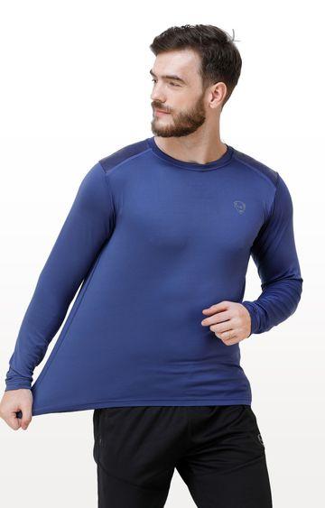 Eden Sports | Dark Blue Solid T-Shirt