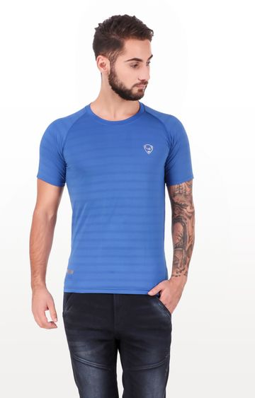 Eden Sports | Blue Striped T-Shirt