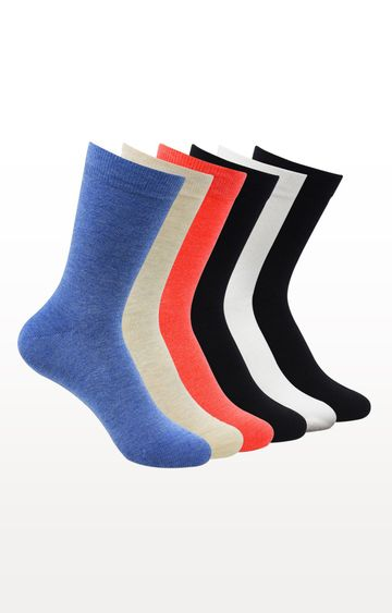 BALENZIA | Multicoloured Solid Socks - (Pack of 6)