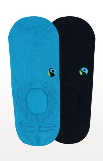 BALENZIA | Black and Blue Solid Socks - (Pack of 2)