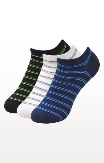 BALENZIA | Multicoloured Striped Socks - (Pack of 3)
