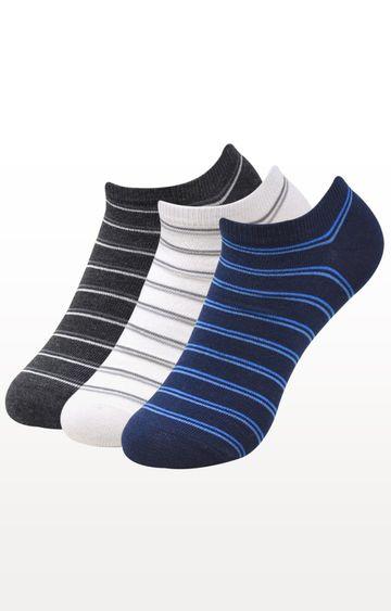 BALENZIA   Multicoloured Striped Socks - (Pack of 3)