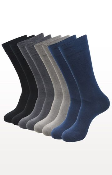 BALENZIA | Multicoloured Solid Socks - (Pack of 8)
